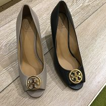 Tory Burch Open Toe Casual Style Plain Leather Party Style Office Style