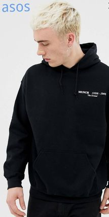 Street Style Plain Oversized Hoodies