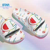 CHAMPION Unisex Shower Shoes PVC Clothing Logo Shower Sandals