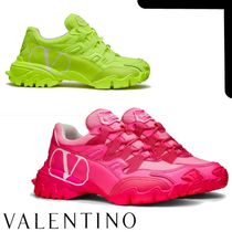 VALENTINO Leather Logo Low-Top Sneakers