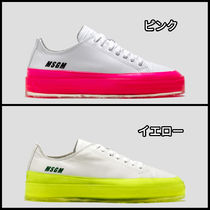 MSGM Round Toe Rubber Sole Casual Style Unisex Blended Fabrics