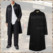 Burberry Other Plaid Patterns Plain Long Logo Trench Coats