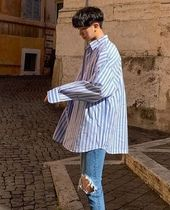 ASCLO Street Style Collaboration Long Sleeves Plain Shirts