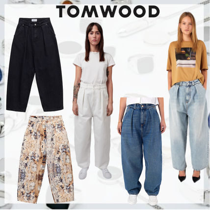 Casual Style Denim Cotton Party Style Office Style Pants