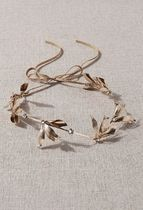 Anthropologie Casual Style Party Style Flower Tiaras 14K Gold