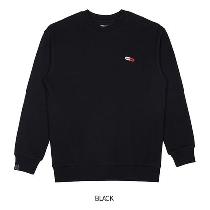 Crew Neck Unisex Collaboration Long Sleeves Cotton Logo