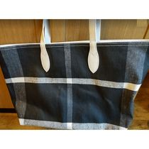 Burberry Canvas A4 Logo Totes