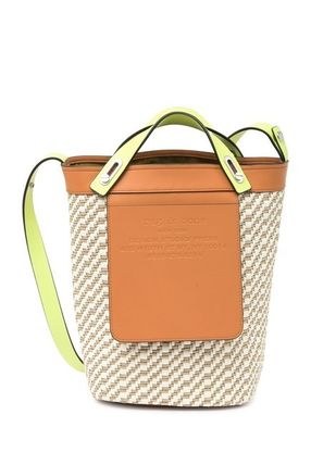 Casual Style Blended Fabrics 2WAY Leather Crossbody