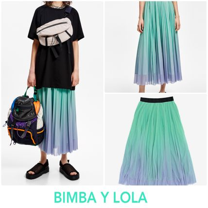 Casual Style Pleated Skirts Skirts