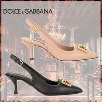 Dolce & Gabbana Leather Elegant Style Pointed Toe Pumps & Mules