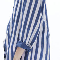 Ron Herman Stripes Casual Style Cropped Medium Office Style