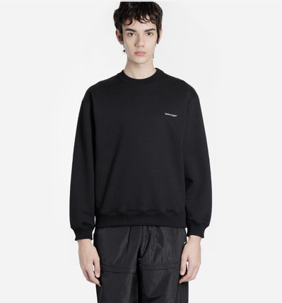 BALENCIAGA Crew Neck Pullovers Sweat Street Style Long Sleeves Cotton