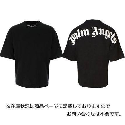 Palm Angels Crew Neck Crew Neck Pullovers Unisex Street Style Cotton Short Sleeves 2