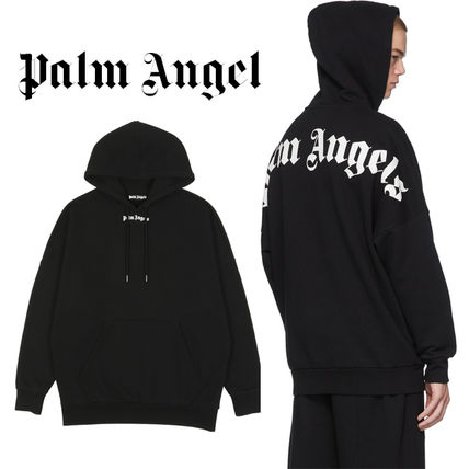 Palm Angels Hoodies Pullovers Unisex Sweat Street Style Long Sleeves Cotton