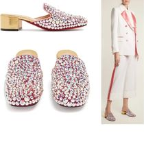 Christian Louboutin Casual Style Suede Blended Fabrics Party Style With Jewels