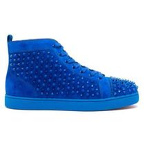 Christian Louboutin Suede Studded Plain Logo Sneakers