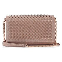 Christian Louboutin 3WAY Chain Leather Party Style Elegant Style Crossbody