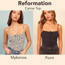 REFORMATION Flower Patterns Dots Casual Style Tanks & Camisoles