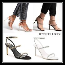 Jennifer Lopez Round Toe Casual Style Chain Pin Heels Party Style
