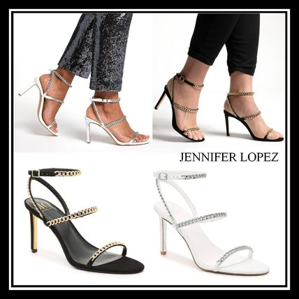 Round Toe Casual Style Chain Pin Heels Party Style