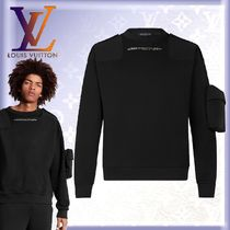 Louis Vuitton Crew Neck Unisex Street Style U-Neck Long Sleeves Cotton