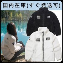 THE NORTH FACE Short Casual Style Unisex Shearling Logo Fleece Jackets