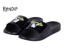 RIPNDIP Street Style Shower Shoes Logo Shower Sandals