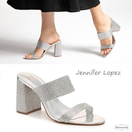Casual Style Block Heels Party Style Elegant Style Glitter
