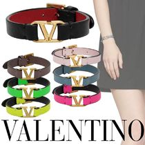 VALENTINO VLOGO Leather Bracelets