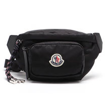 MONCLER Nylon 2WAY Plain Crossbody Bag Logo Belt Bags