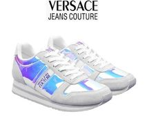VERSACE JEANS Casual Style Plain Logo Low-Top Sneakers