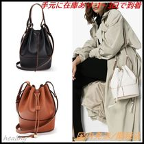 LOEWE Casual Style Calfskin 2WAY Plain Leather Party Style Purses
