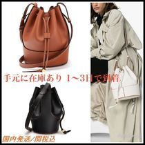 LOEWE BALLOON Casual Style Calfskin 2WAY Plain Leather Party Style Purses