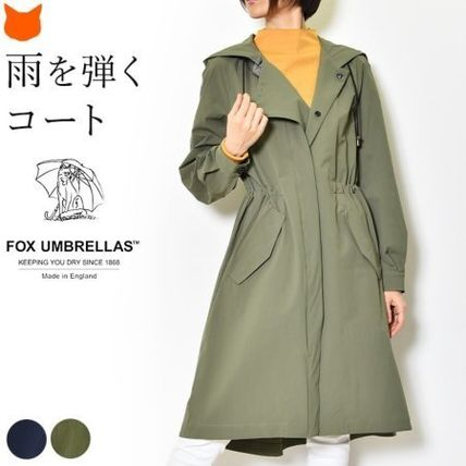 Casual Style Plain Medium Raincoat Parkas