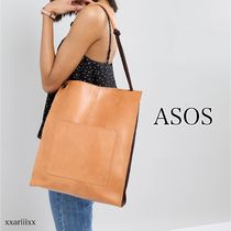 ASOS Casual Style Plain Leather Totes