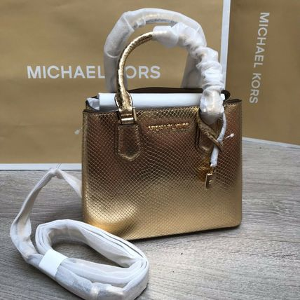 Michael Kors ADELE bag 2WAY Plain Other Animal Patterns Leather Party Style