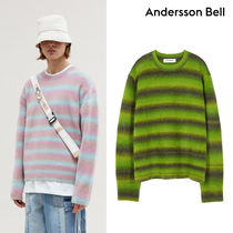 ANDERSSON BELL Stripes Unisex Street Style Long Sleeves Sweaters