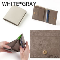 L'arcobaleno Unisex Plain Leather Handmade Folding Wallet Logo
