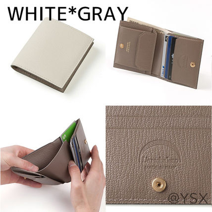 Unisex Plain Leather Handmade Folding Wallet Logo