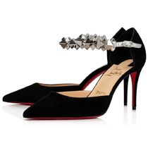 Christian Louboutin Velvet Pin Heels Pointed Toe Pumps & Mules