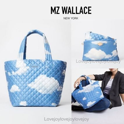 Casual Style Unisex Nylon Street Style A4 Totes