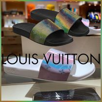 Louis Vuitton MONOGRAM Monogram Blended Fabrics Street Style Bi-color Shower Shoes