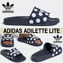 adidas ADILETTE Dots Casual Style Street Style Logo Sandals Sandal