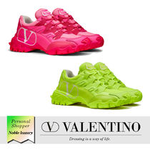 VALENTINO Rubber Sole Casual Style Leather Elegant Style Logo