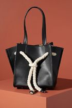 Anthropologie Casual Style Blended Fabrics Plain Office Style Totes