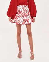 Cameo the Label Flared Skirts Short Flower Patterns Bold Mini Skirts