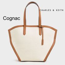 Charles&Keith Casual Style Canvas Faux Fur Totes