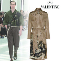 VALENTINO Long Front Button Trench Coats