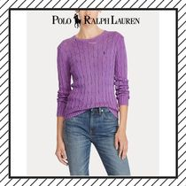 POLO RALPH LAUREN Cable Knit Casual Style Street Style Long Sleeves Plain