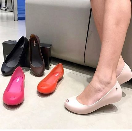Casual Style Plain PVC Clothing Pumps & Mules